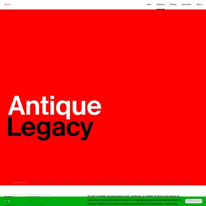 Antique Legacy « Typefaces « Optimo