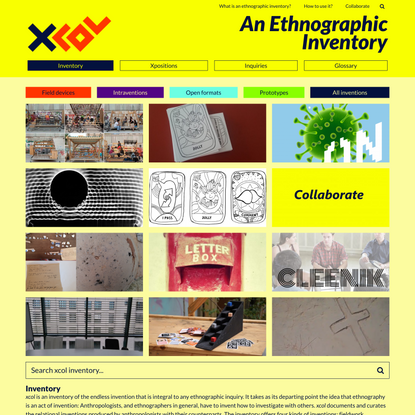 xcol – An Ethnographic Inventory