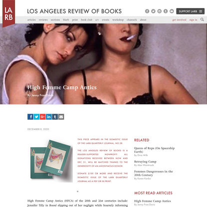 High Femme Camp Antics - Los Angeles Review of Books