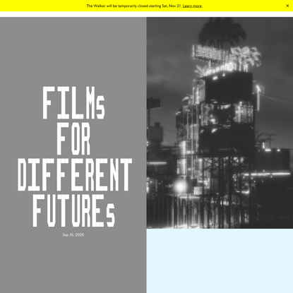 Films for Different Futures