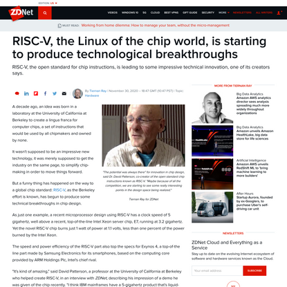 RISC-V, the Linux of the chip world, is starting to produce technological breakthroughs   ZDNet