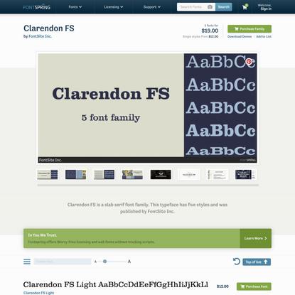 Clarendon FS Font | Fontspring