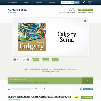 Calgary Serial Font | Fontspring