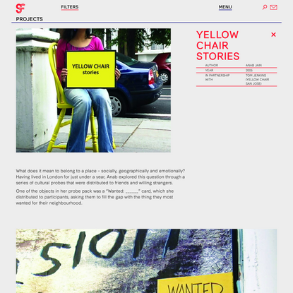 Yellow Chair Stories - Anab Jain — Superflux