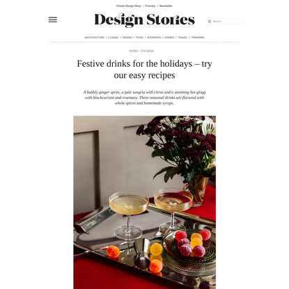 Festive drinks for the holidays – try our easy recipes | Design Stories