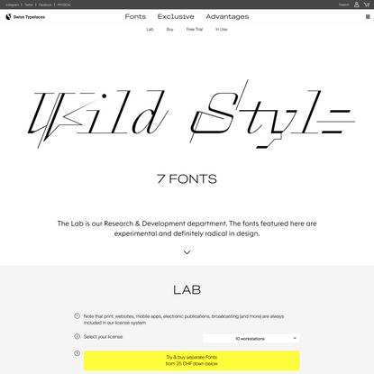 Lab – Swiss Typefaces