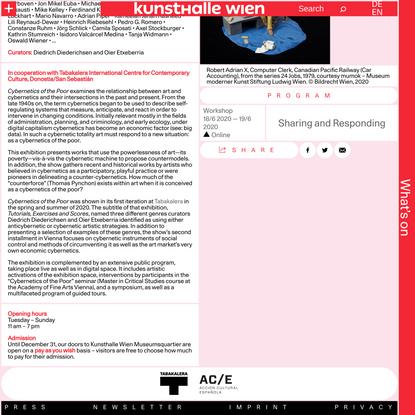 Cybernetics of the Poor – Kunsthalle Wien