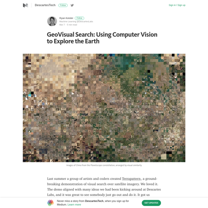 GeoVisual Search: Using Computer Vision to Explore the Earth
