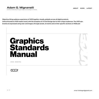 VICE Digital Brand Restructure — Adam G. Mignanelli