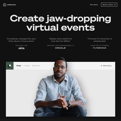 Welcome | Create jaw-dropping virtual events