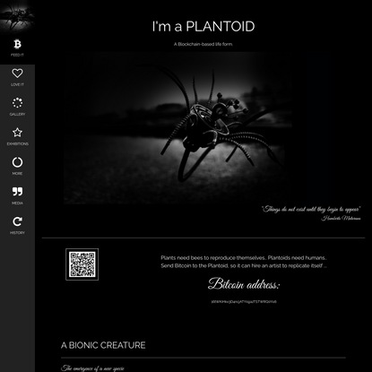 Plantoids: Blockchain-based life forms