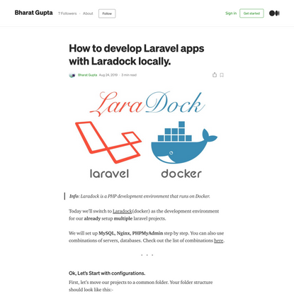 How to develop Laravel apps with Laradock locally.