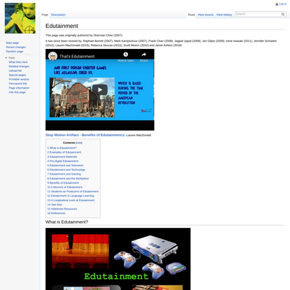 Edutainment - ETEC 510