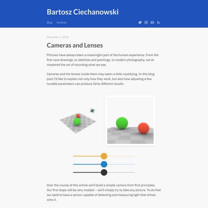 Cameras and Lenses – Bartosz Ciechanowski