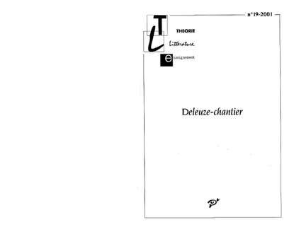 Diagrams as piloting device in the work of Gilles Deleuze