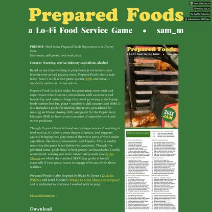 24XX: Prepared Foods by sam_m