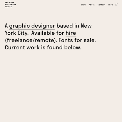 Brandon Nickerson's Graphic Design Portfolio