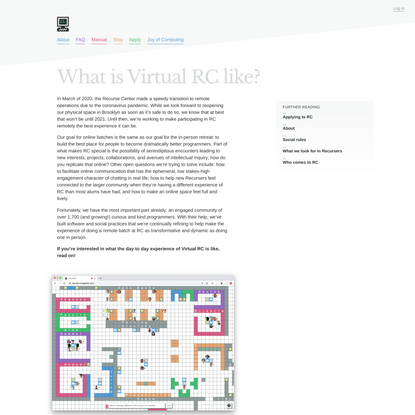 What is Virtual RC like? - Recurse Center