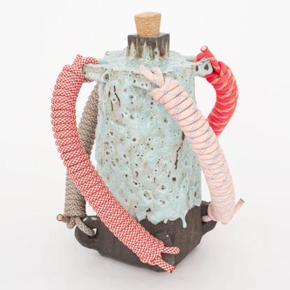 """@karl_monies on Instagram: """"'CLIX' 2020 Glazed stoneware, cork, rope 45 x 36 x 36 cm #ceramic"""""""