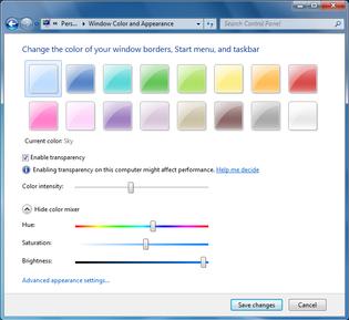 Windows 7 Color Settings