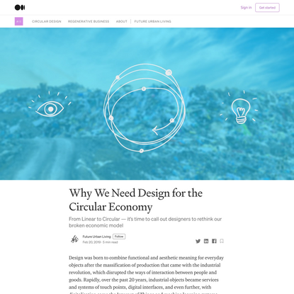 Why We Need Design for the Circular Economy