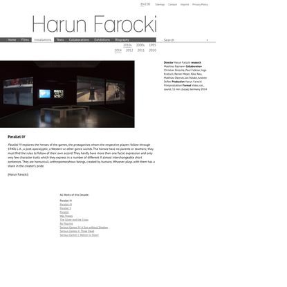Harun Farocki: Parallel IV