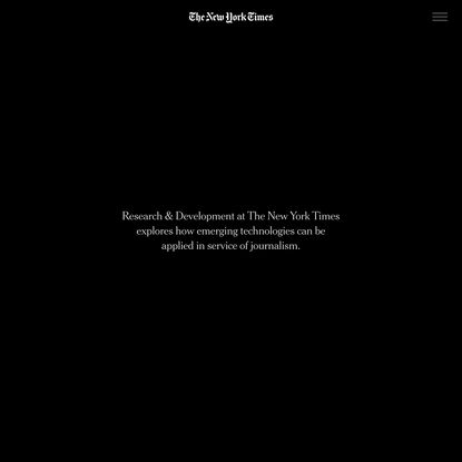The New York Times - Research & Development