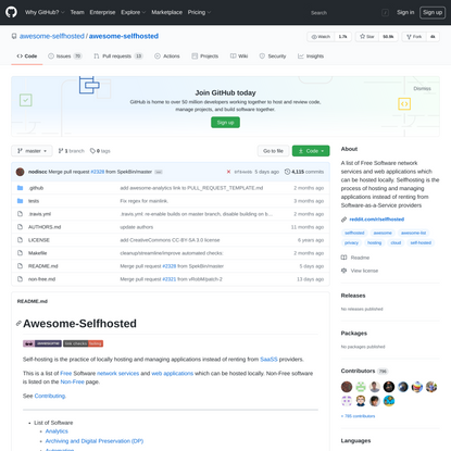 awesome-selfhosted/awesome-selfhosted