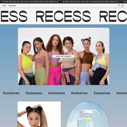 Recess — Activewear and Life-Intervention Wear