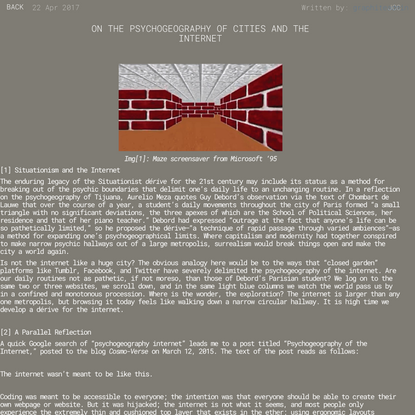 On the psychogeography of cities and the internet - GRAPHITE
