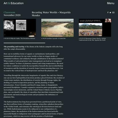 Recasting Water Worlds - Classroom - Art & Education
