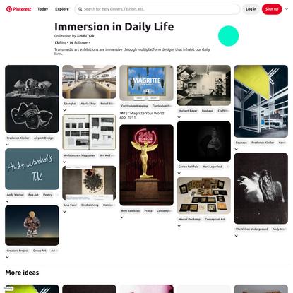 10+ Immersion in Daily Life ideas | design, art exhibition, inhabit