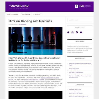 Mimi Yin: Dancing with Machines