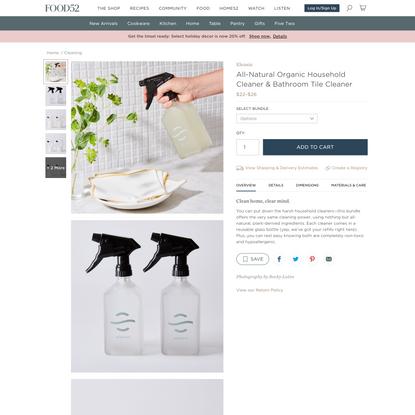 All-Natural Organic Household Cleaner & Bathroom Tile Cleaner