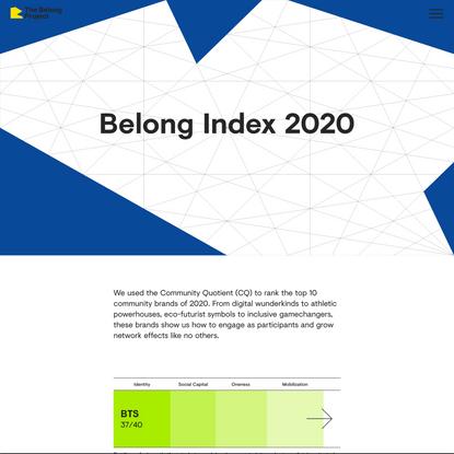 Belong Index 2020