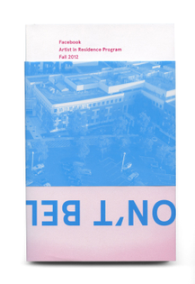 Facebook Artists in Residence catalogue Fall 2012