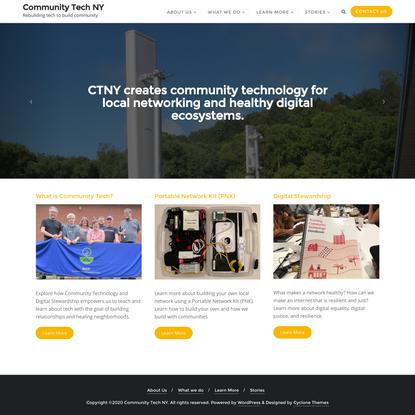 Community Tech NY – Rebuilding tech to build community