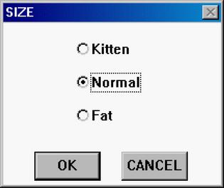 SIZE: Kitten, Normal, Fat