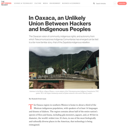 In Oaxaca, an Unlikely Union Between Hackers and Indigenous Peoples