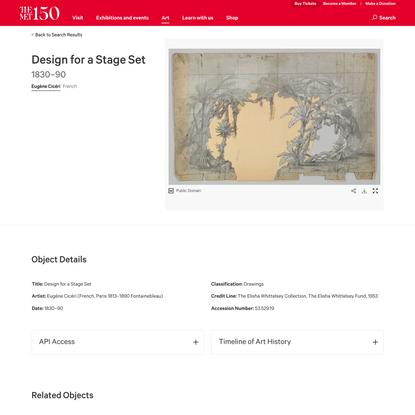 Eugène Cicéri | Design for a Stage Set | The Metropolitan Museum of Art