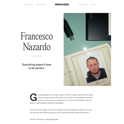 Emmazed – Francesco Nazardo for Viewfinder