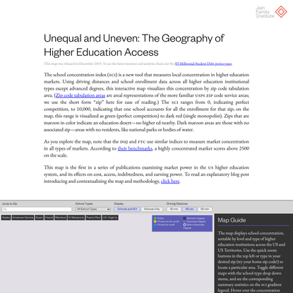 Geography of Higher Education | Jain Family Institute