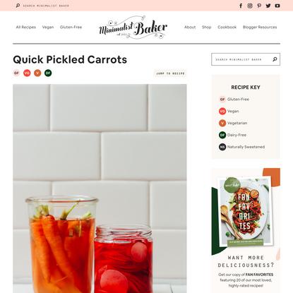 Quick Pickled Carrots   Minimalist Baker