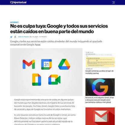 No es culpa tuya: Google y todos sus servicios están caídos en buena parte del mundo