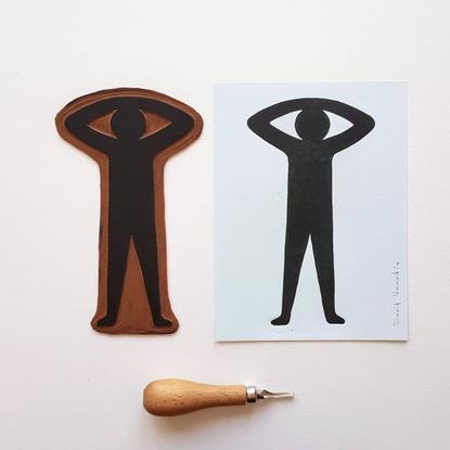 "David Vanadia on Instagram: ""New linocut print on shop 👉🏼 link in bio. ~ #linogravure #linocut #linoprint #print #printmakin..."