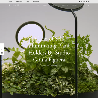 A Trio of Self-Illuminating Plant Holders By Studio Goula Figuera