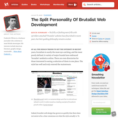 The Split Personality Of Brutalist Web Development — Smashing Magazine