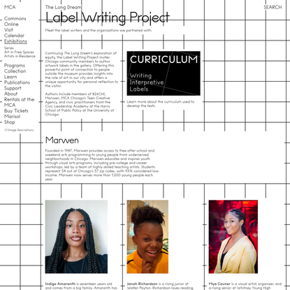 Label Writing Project