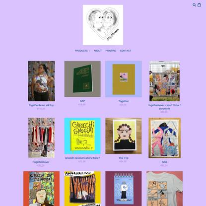 Risograph printed Comics Artbooks Printed Matter by Colorama Berlin