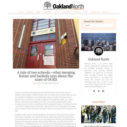 A tale of two schools—what merging Kaiser and Sankofa says about the state of OUSD